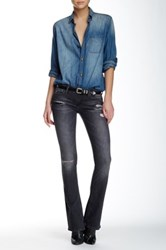 Black Orchid India Bootcut Jean Gray