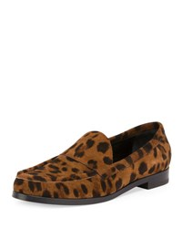 Pierre Hardy Colorblock Leather Loafer Multi Taupe Leopard