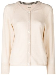 Bellerose V Neck Button Cardigan Nude And Neutrals