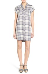 Women's Treasure And Bond Plaid Boyfriend Shirtdress