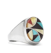 Foundwell Vintage 1980S Silver Multi Stone Ring Silver