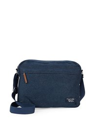 Original Penguin Denim Messenger Bag Dark Sapphire