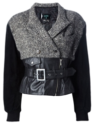Jean Paul Gaultier Vintage Belted Biker Jacket Black