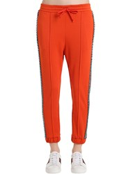 Gucci Crystal Techno Jersey Track Pants