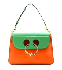 J.W.Anderson Medium Pierce Leather Shoulder Bag Orange