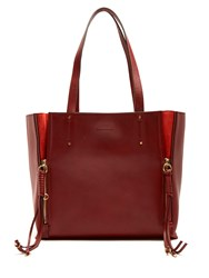 Chloe Milo Large Leather Tote Dark Red