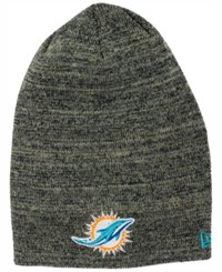 New Era Miami Dolphins Slouch It Knit Hat Heather Gray