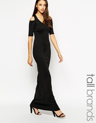 Taller Than Your Average Ttya Cut Out Shoulder Maxi Dress Black