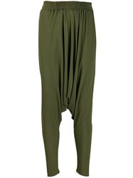 Jean Paul Gaultier Vintage 1990'S Dropped Crotch Trousers Green