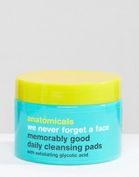 Anatomicals We Never Forget A Face Glycolic Face Cleansing Pads X 60 Clear