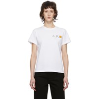 A.P.C. White Carhartt Wip Edition Fire T Shirt