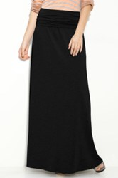 Splendid Modal Lycra Long Skirt Black