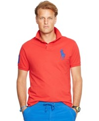 Polo Ralph Lauren Classic Fit Big Pony Mesh Polo Shirt Red