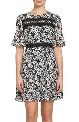 Cece Women's Alayna Floral Fit And Flare Dress