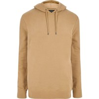 River Island Mensbig And Tall Brown Hoodie