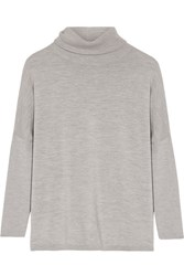 Allude Wool Turtleneck Sweater Gray