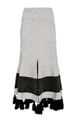Proenza Schouler Tweed Knit Flared Skirt Multi
