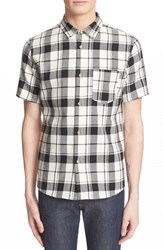A.P.C. Men's Plaid Short Sleeve Woven Shirt