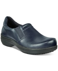 Easy Street Shoes Works By Bind Slip Resistant Clogs Women's Navy