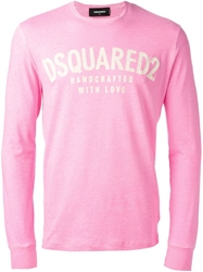 Dsquared2 Long Sleeve T Shirt Pink And Purple