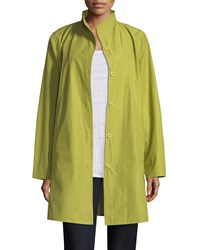 Eileen Fisher Weather Resistant Snap Front Coat Petite Verbena