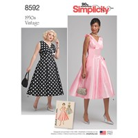 Simplicity 'S Vintage Dress Sewing Pattern 8592