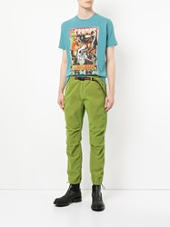 Hysteric Glamour Belted Waist Straight Leg Trousers Green