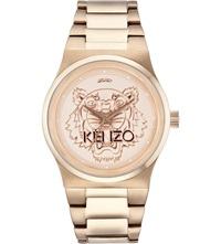 Kenzo 9600205 Rose Gold Tiger Head Watch Rose Gold