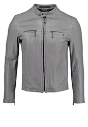 Replay Leather Jacket Grey