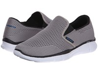 Skechers Equalizer Double Play Gray Men's Slip On Shoes