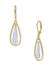 Lonna And Lilly Cubic Zirconia Pear Shaped Drop Earrings Gold
