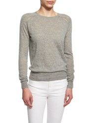 Etoile Isabel Marant Foty Burnout Long Sleeve Sweater Gray Grey