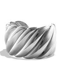 Sculpted Cable Wide Cuff David Yurman