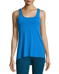 Beyond Yoga Cross The Line Athletic Tank Top Blue