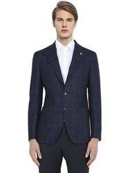 Tagliatore Super 100'S Wool Checked Jacket