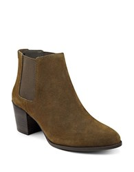 Anne Klein Geordanna Suede Booties Green