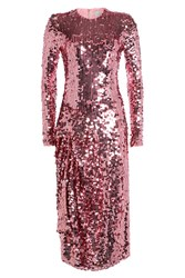 Preen By Thornton Bregazzi Sequinned Dress Pink