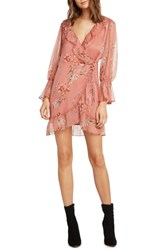 Willow And Clay Print Wrap Dress