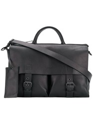 Marsell Satchel Tote Leather Black