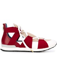 Vionnet Elasticated Band Sneakers Red