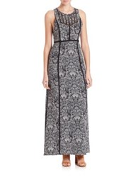 Iro Ridge Printed Maxi Dress Black White