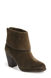 Vince Camuto 'Hamilton' Cuff Ankle Boot Women Italian Olive Suede