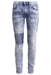 Diesel Francy Relaxed Fit Jeans 0840B Destroyed Denim