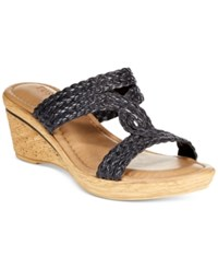 Easy Street Shoes Tuscany By Easy Street Loano Wedge Sandals Women's Shoes