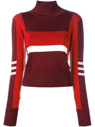 Emilio Pucci High Neck Cropped Pullover Red