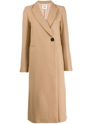 Semicouture Single Breasted Coat Neutrals
