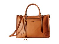 Rebecca Minkoff Regan Satchel Tote Almond Tote Handbags Brown