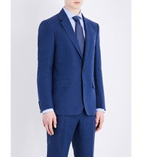 Gieves And Hawkes Regular Fit Linen Jacket Brt Blue