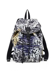 Burberry Coastal Printed Leather Backpack Amber Yellow