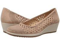 Naturalizer Brelynn Ginger Snap Nubuck Women's Wedge Shoes Beige